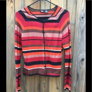Mossimo striped cardigan, sz M